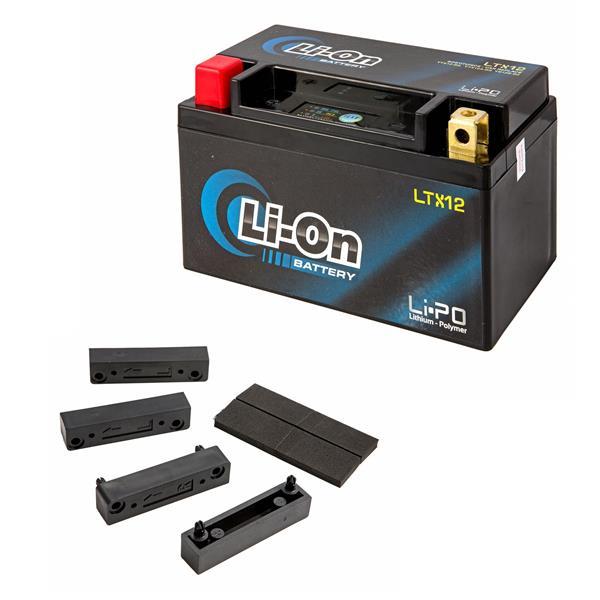 Batterie Li-On 12V-10Ah- LTX12 für Vespa LX-LXV-S 125-150ccm 4T AC Euro3-i-e-3V für Vespa LX-LXV-S 125-150ccm 4T AC Euro3-i-e-3V-