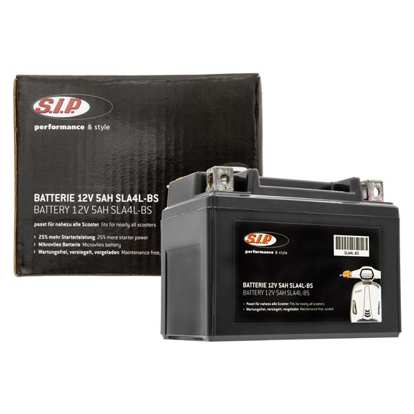 Batterie SIP 12V-5Ah- SLA4L-BS passt für nahezu alle Scooter 50ccm 2T-4T AC-LC passt für nahezu alle Scooter 50ccm 2T-4T AC-LC