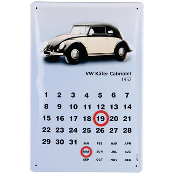Blech-Kalender VW Collection VW Käfer - Cabriolet 1952  -