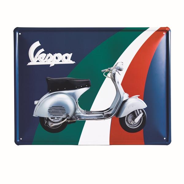 Blechschild FORME -Vespa Tricolore-  -