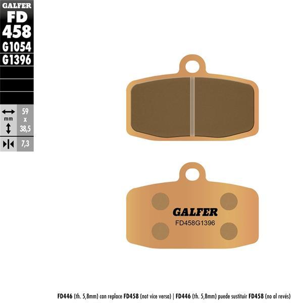 Bremsbeläge GALFER Sintered vorne für KTM 85-150 SX-250-350 Freeride für KTM 85-150 SX-250-350 Freeride-
