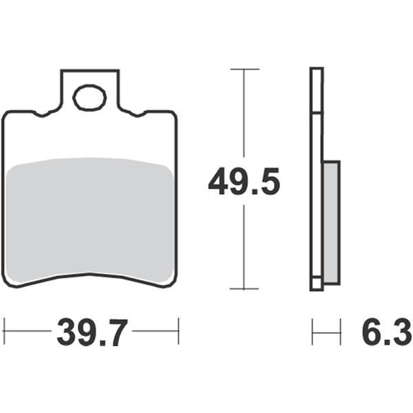 Bremsbeläge RMS S10  -