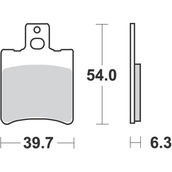 Bremsbeläge RMS S13  -