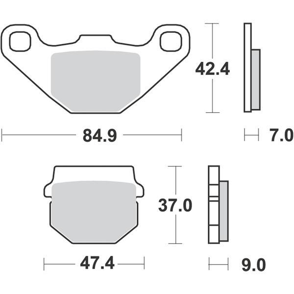 Bremsbeläge RMS S16  -