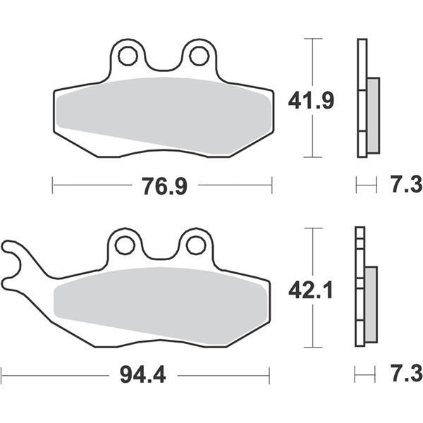 Bremsbeläge RMS S18  -