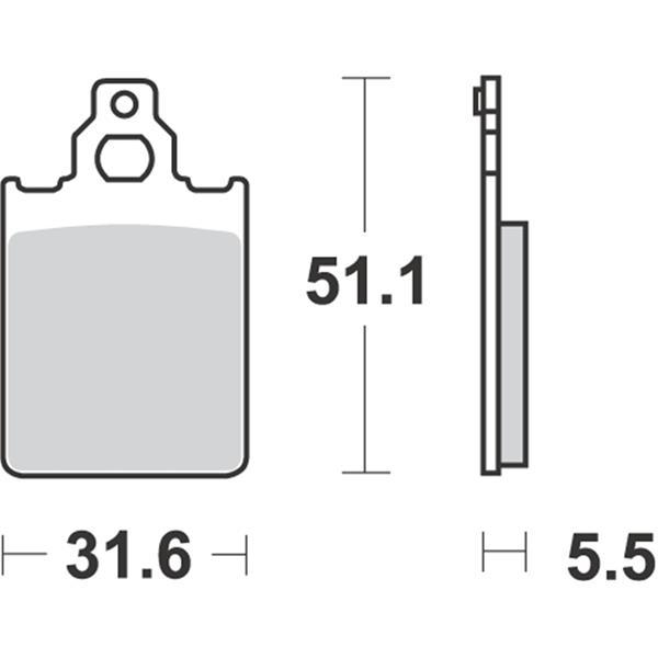 Bremsbeläge RMS S21  -