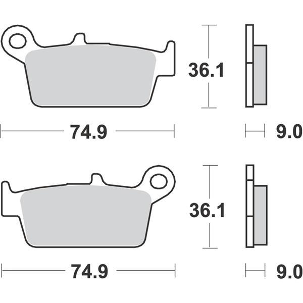 Bremsbeläge RMS S22  -