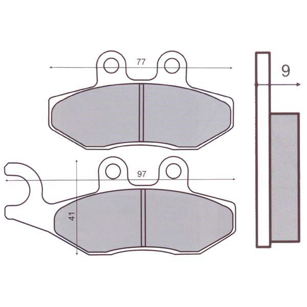 Bremsbeläge RMS S51 für HENG TONG Bremszange  -