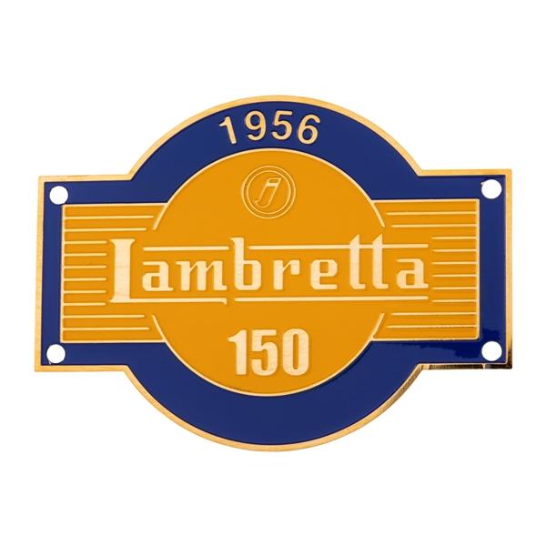 Emblem -j LAMBRETTA 150- für Lambretta für Lambretta-