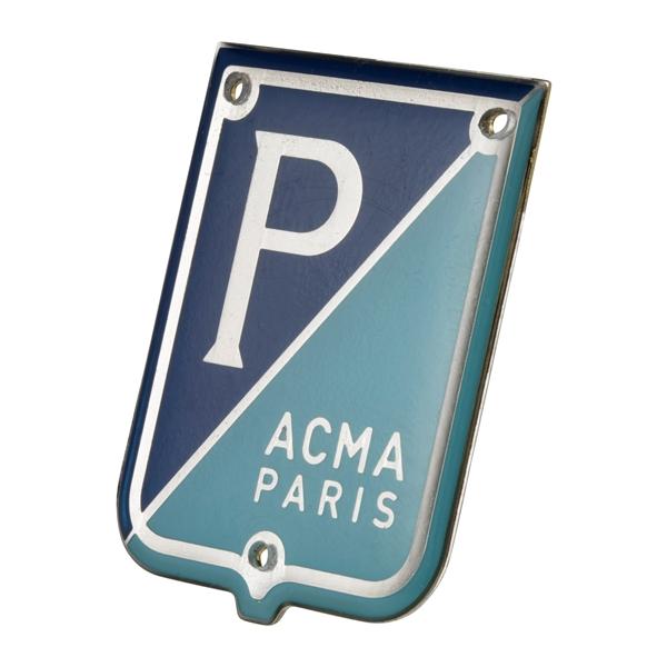 Emblem -PIAGGIO ACMA Paris- für Vespa 125 -57-58-150 GL -57-58 für Vespa 125 -57-58-150 GL -57-58-