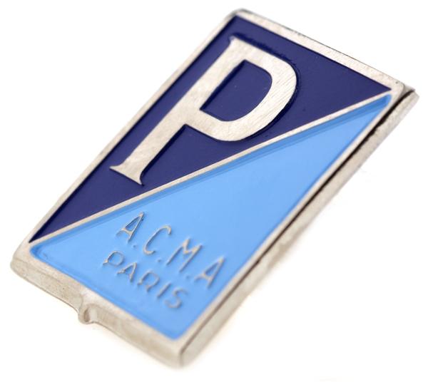 Emblem -PIAGGIO ACMA Paris- für Vespa ACMA 125 -54-56-150 GL -56 für Vespa ACMA 125 -54-56-150 GL -56-