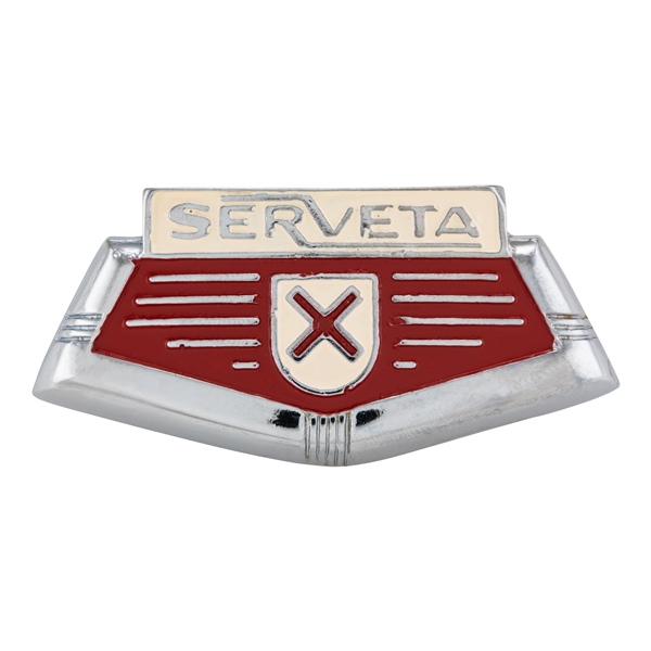 Emblem -SERVETA- Kaskade für Lambretta Serveta 125 Lince-Special-150 Lince- Special- 200 Jet- Lince für Lambretta Serveta 125 Lince-Special-150 Lince- Special- 200 Jet- Lince-