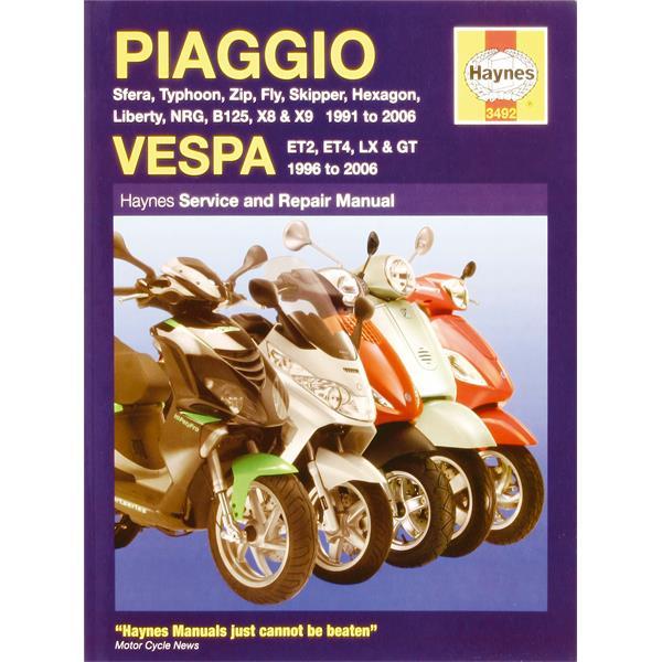 Handbuch -PIAGGIO TPH-Sfera-Zip- NRG-SKR-Hexagon-Vespa ET2-ET4- Service und Repair Manual  -