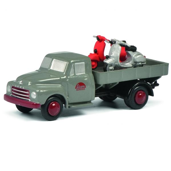 Modell SCHUCO Piccolo Opel Blitz VESPA SERVICO Limited Edition  -
