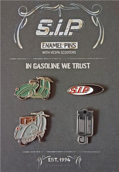 Pin Set SIP mit Vespa Rollern- Vespa GS150-Vespa Lampe Unten  -