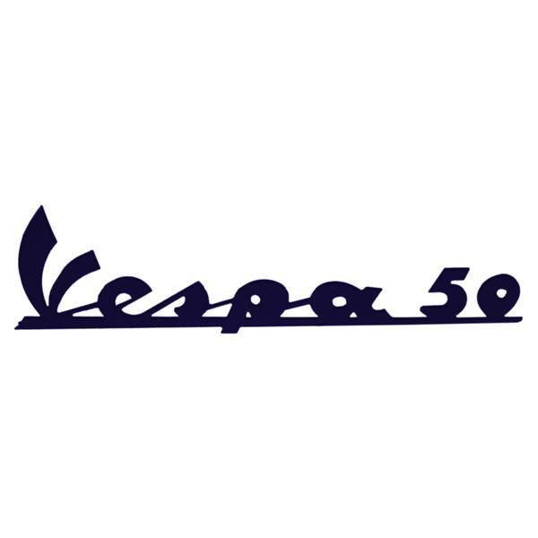 Schriftzug Vespa 50 Beinschild vorne für Vespa 50 N- V5A1T 11600 - für Vespa 50 N- V5A1T 11600 -