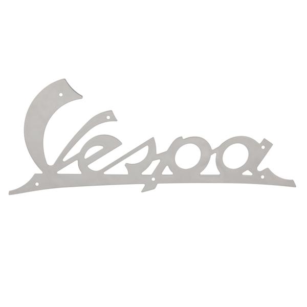 Schriftzug -Vespa- Beinschild vorne für MotoVespa 125N-S für MotoVespa 125N-S-