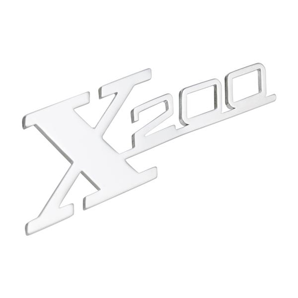Schriftzug X 200 Beinschild für Lambretta 200 SX für Lambretta 200 SX-