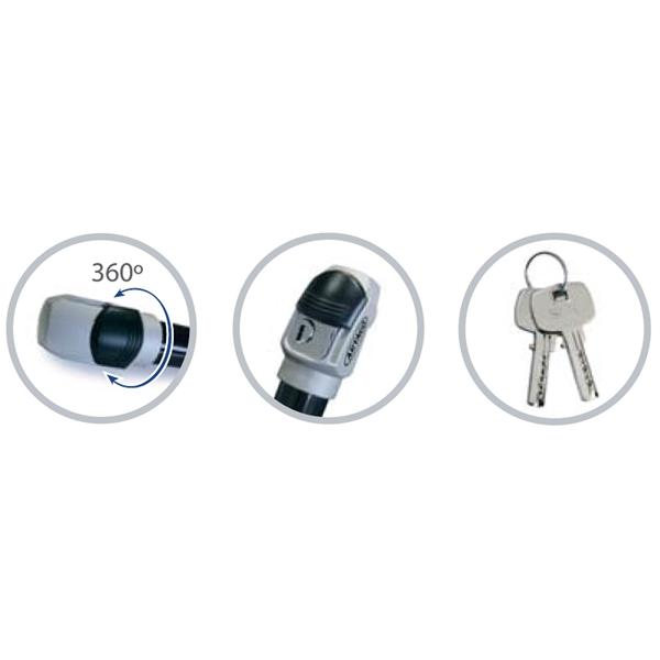Sicherheitsschloss ARTAGO -Practic STYLE- für Vespa alle Modelle Klassik für Vespa alle Modelle Klassik-