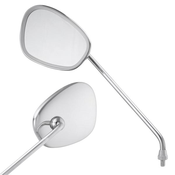 Standard Spiegel zur Montage am Lenkerunterteil links für Vespa alle Modelle Klassik für Vespa alle Modelle Klassik-