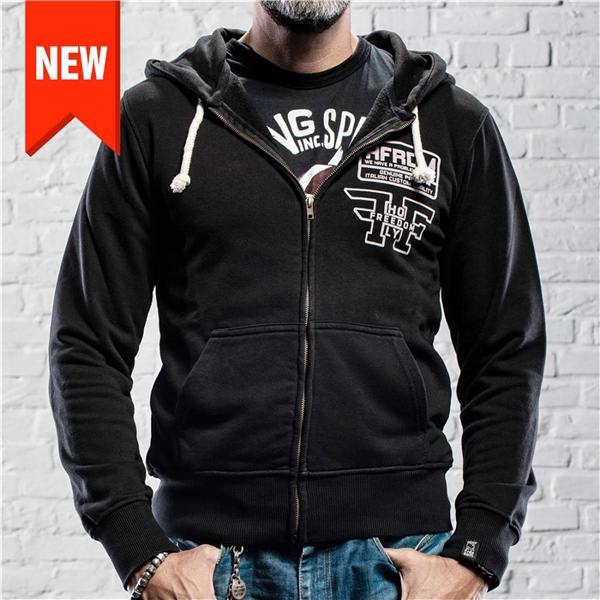 Sweatshirt-Zipper HOLY FREEDOM Logo Grösse: L für Männer für Männer-