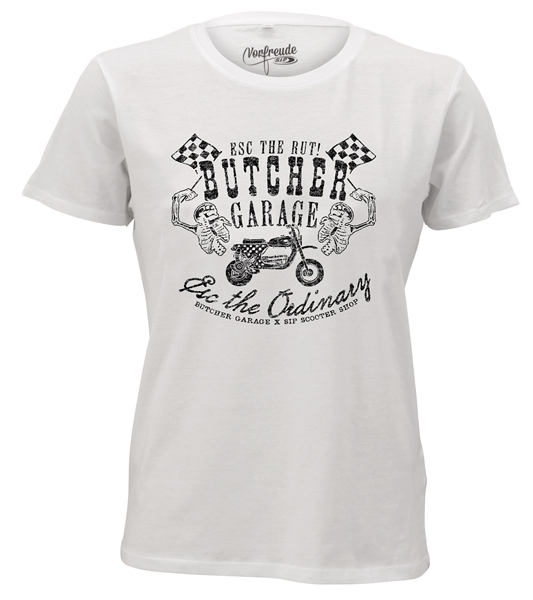 T-Shirt SIP by BUTCHER -ESC VESPA CUSTOM- Grösse: S für Männer für Männer-
