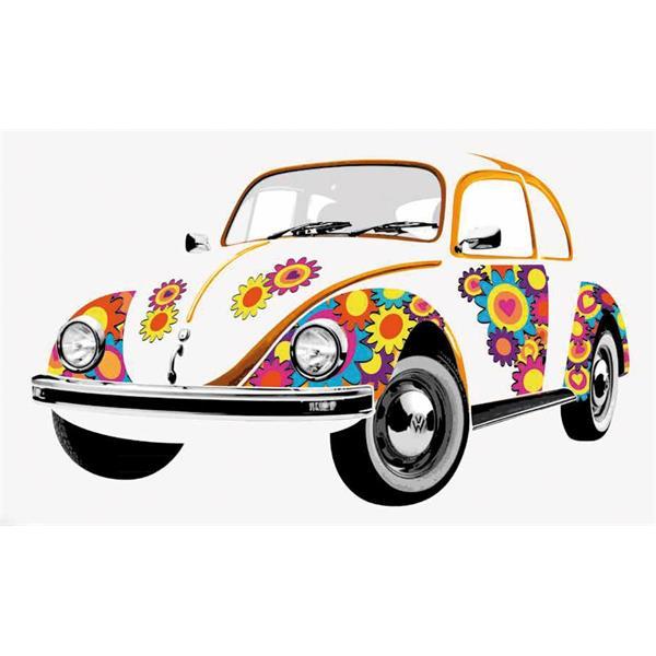Wandtattoo VW Collection VW Käfer -Flowers-  -