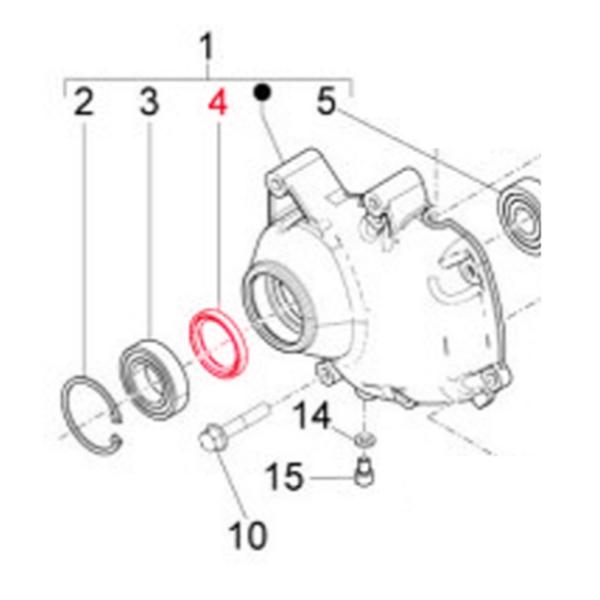 Wellendichtring Antriebswelle-Getriebedeckel 38x50x7 mm- PIAGGIO für Vespa GTS-GTS Super-GTV-GT 60-GT-GT L 125-300ccm für Vespa GTS-GTS Super-GTV-GT 60-GT-GT L 125-300ccm-